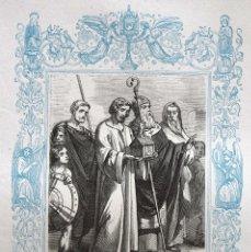 Arte: LA EXALTACIÓN DE LA SANTA CRUZ - GRABADO DÉCADAS 1850-1860 - BUEN ESTADO. Lote 209310310