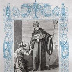 Arte: SANTO TOMÁS DE VILLANUEVA, ARZOBISPO DE VALENCIA - GRABADO DÉCADAS 1850-1860 - BUEN ESTADO. Lote 172285839