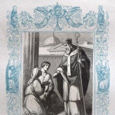 Arte: SAN GENARO, OBISPO Y MARTIR - GRABADO DÉCADAS 1850-1860 - BUEN ESTADO. Lote 172285940