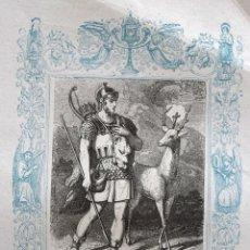 Arte: SAN EUSTAQUIO, MARTIR - GRABADO DÉCADAS 1850-1860 - BUEN ESTADO. Lote 172286013