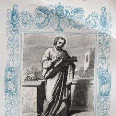 Arte: SAN MATEO, APOSTOL Y EVANGELISTA - GRABADO DÉCADAS 1850-1860 - BUEN ESTADO. Lote 172286113