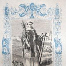 Arte: SAN LORENZO, DIÁCONO Y MARTIR - GRABADO DÉCADAS 1850-1860 - BUEN ESTADO. Lote 172286227