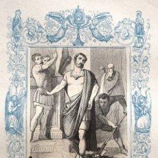 Arte: SAN TIBURCIO, MARTIR - GRABADO DÉCADAS 1850-1860 - BUEN ESTADO. Lote 172286283