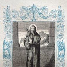 Arte: SAN JUAN GUALBERTO, ABAD - GRABADO DÉCADAS 1850-1860 - BUEN ESTADO. Lote 172286490