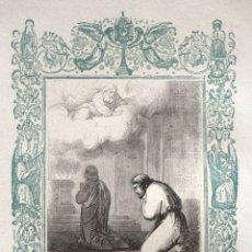 Arte: EL FARISEO Y EL PUBLICANO - GRABADO DÉCADAS 1850-1860 - BUEN ESTADO. Lote 172286553