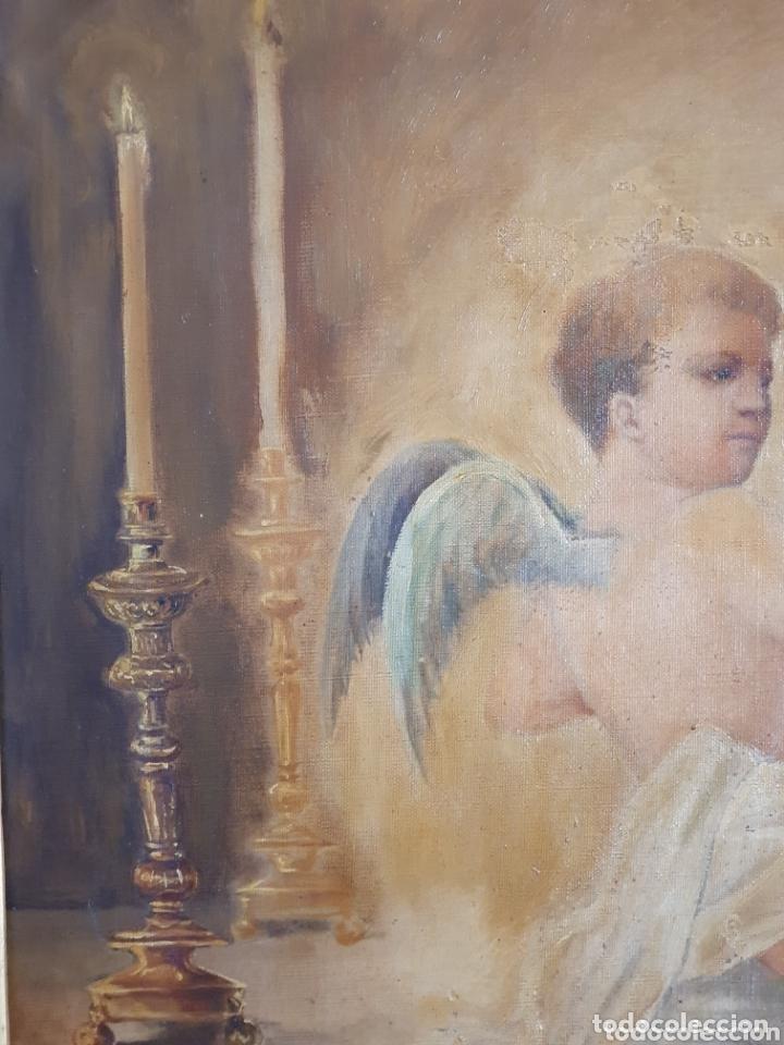 Arte: OLEO SOBRE LIENZO EL EXTASIS DE SANTA TERESA DE JESÚS S.XVIII-XIX - Foto 5 - 160178690
