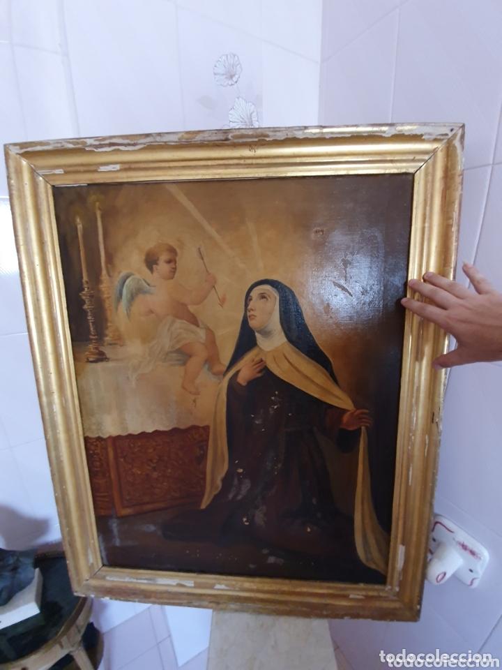Arte: OLEO SOBRE LIENZO EL EXTASIS DE SANTA TERESA DE JESÚS S.XVIII-XIX - Foto 10 - 160178690