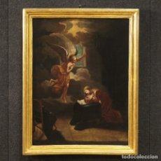 Arte: PINTURA RELIGIOSA ANTIGUA ITALIANA ANUNCIACIÓN DEL SIGLO XVIII. Lote 172298804