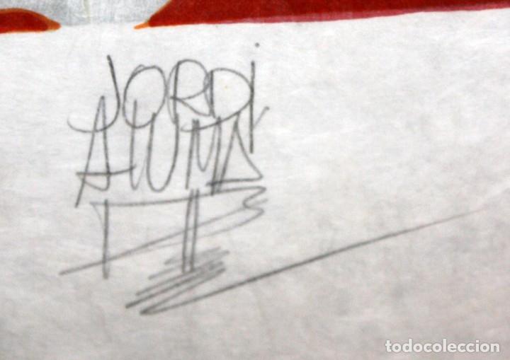 Arte: JORDI ALUMA - 75 ANIVERSARIO ROCALLA - LITOGRAFIA - 5/15 - DEDICADA A MACIA ALAVEDRA - 48 X 60 CM. - Foto 6 - 172310693
