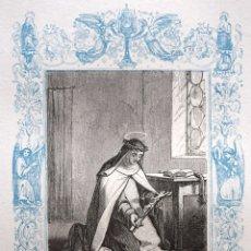 Arte: SANTA MARÍA MAGDALENA DE PAZZIS, VIRGEN - GRABADO DÉCADAS 1850-1860 - BUEN ESTADO. Lote 172357384