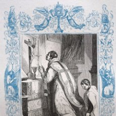 Arte: SAN FELIPE NERI, CONFESOR - GRABADO DÉCADAS 1850-1860 - BUEN ESTADO. Lote 172357429