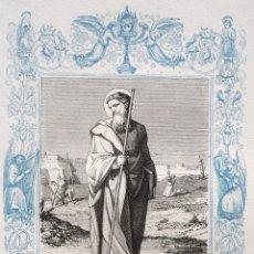 Arte: SAN BERNABÉ, APOSTOL - GRABADO DÉCADAS 1850-1860 - BUEN ESTADO. Lote 172357644
