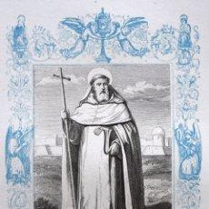 Arte: SAN PEDRO NOLASCO, CONFESOR - GRABADO DÉCADAS 1850-1860 - BUEN ESTADO. Lote 172357678