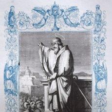 Arte: SAN JUAN CRISOSTOMO, OBISPO Y CONFESOR - GRABADO DÉCADAS 1850-1860 - BUEN ESTADO. Lote 172357734