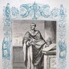 Arte: SAN ANACLETO, PAPA Y MARTIR - GRABADO DÉCADAS 1850-1860 - BUEN ESTADO. Lote 172357964