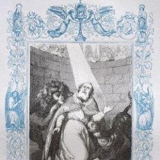 Arte: SAN IGNACIO, OBISPO DE ANTIOQUÍA Y MARTIR - GRABADO DÉCADAS 1850-1860 - BUEN ESTADO. Lote 172358014