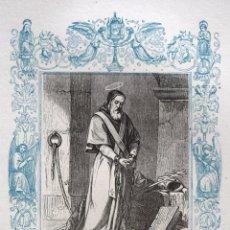 Arte: SAN PÍO, PAPA Y MARTIR - GRABADO DÉCADAS 1850-1860 - BUEN ESTADO. Lote 172358194
