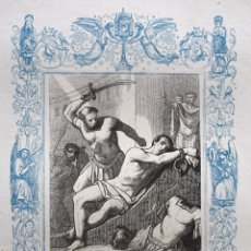 Arte: SAN ROMÁN, MARTIR - GRABADO DÉCADAS 1850-1860 - BUEN ESTADO. Lote 172358292