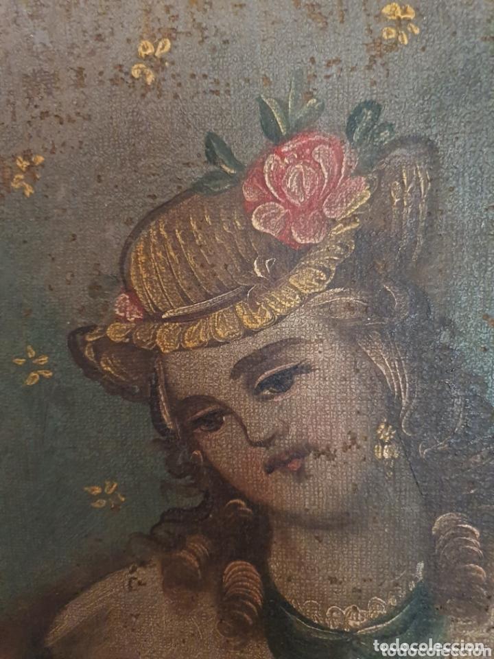 OLEO PINTADO SOBRE LIENZO DE LA DIVINA PASTORA S XVIII-XIX POR FAVOR LEER DESCRIPCIÓN (Arte - Arte Religioso - Pintura Religiosa - Oleo)