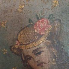 Arte: OLEO PINTADO SOBRE LIENZO DE LA DIVINA PASTORA S XVIII-XIX POR FAVOR LEER DESCRIPCIÓN. Lote 172394347