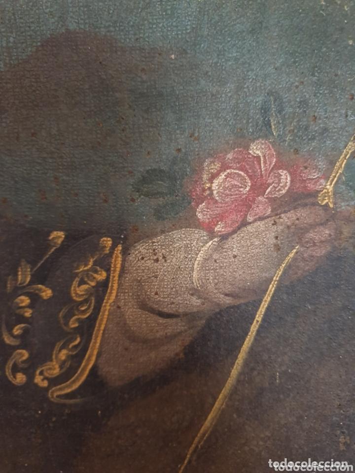Arte: OLEO PINTADO SOBRE LIENZO DE LA DIVINA PASTORA S XVIII-XIX POR FAVOR LEER DESCRIPCIÓN - Foto 3 - 172394347