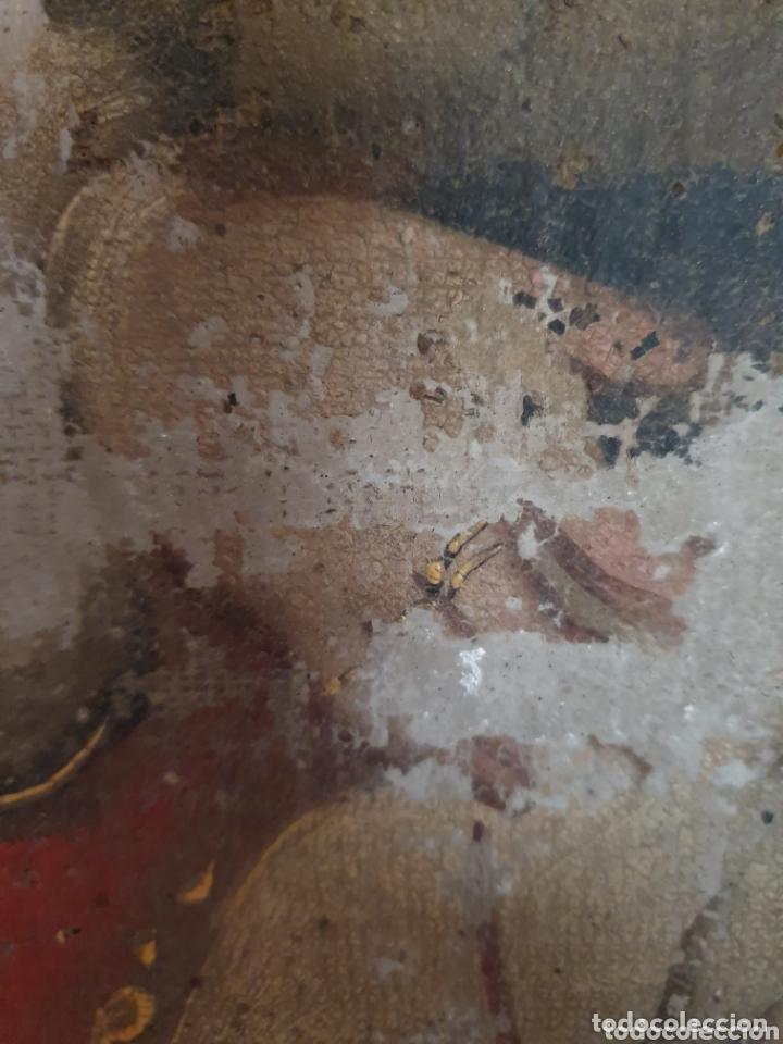 Arte: OLEO PINTADO SOBRE LIENZO DE LA DIVINA PASTORA S XVIII-XIX POR FAVOR LEER DESCRIPCIÓN - Foto 4 - 172394347