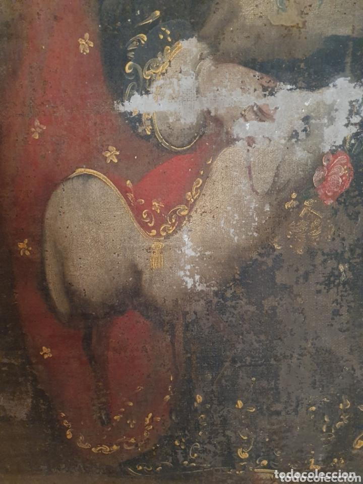 Arte: OLEO PINTADO SOBRE LIENZO DE LA DIVINA PASTORA S XVIII-XIX POR FAVOR LEER DESCRIPCIÓN - Foto 5 - 172394347