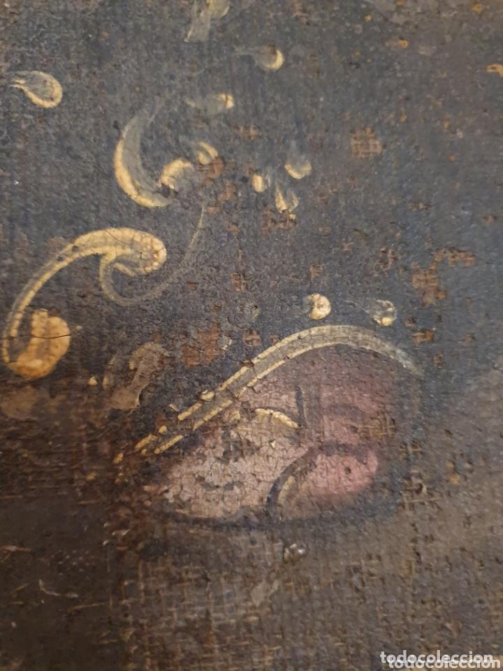 Arte: OLEO PINTADO SOBRE LIENZO DE LA DIVINA PASTORA S XVIII-XIX POR FAVOR LEER DESCRIPCIÓN - Foto 6 - 172394347