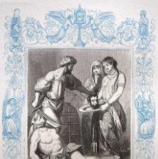 Arte: LA DEGOLLACIÓN DE SAN JUAN BAUTISTA - GRABADO DÉCADAS 1850-1860 - BUEN ESTADO. Lote 172419602