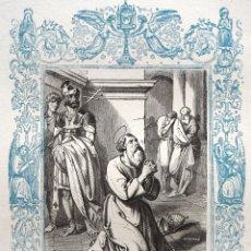 Arte: SAN SILVERIO, PAPA Y MARTIR - GRABADO DÉCADAS 1850-1860 - BUEN ESTADO. Lote 172419934
