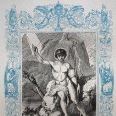 Arte: SAN JUAN BAUSTISTA - GRABADO DÉCADAS 1850-1860 - BUEN ESTADO. Lote 172420125