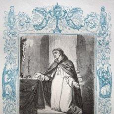Arte: EL BEATO MIGUEL DE LOS SANTOS, CONFESOR - GRABADO DÉCADAS 1850-1860 - BUEN ESTADO. Lote 172420442