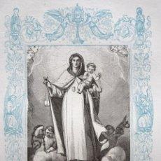 Arte: NUESTRA SEÑORA DE LAS MERCEDES - GRABADO DÉCADAS 1850-1860 - BUEN ESTADO. Lote 172420618