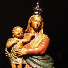 Arte: ESCUELA ITALIANA REGINA MUNDIS TALLA DE MADERA. Lote 171689470