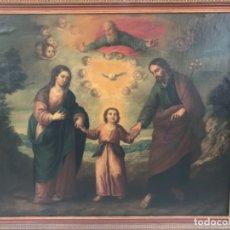 Arte: OLEO SOBRE LIENZO SAGRADA FAMILIA. Lote 172585398