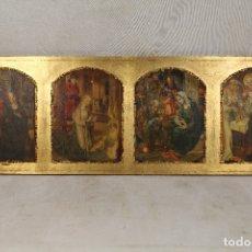 Arte: RETABLO EN MADERA LAMINADA Y DORADA. Lote 172592318