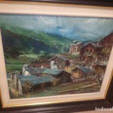 Arte: PUEBLO INTERIOR DE CASTELLON-PINTOR VILLARREOLENSE -MARTI FONT. Lote 172630328