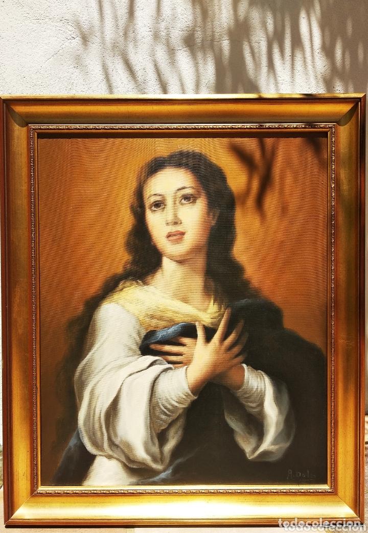 Arte: Cuadro Lienzo Virgen Inmaculada Concepción - Foto 3 - 172632972