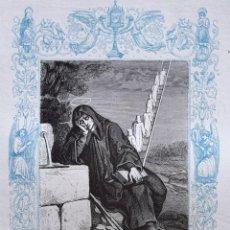 Arte: SAN ROMUALDO, ABAD - GRABADO DÉCADAS 1850-1860 - BUEN ESTADO. Lote 172670023