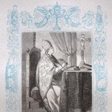 Arte: SAN EVARISTO, PAPA Y MARTIR - GRABADO DÉCADAS 1850-1860 - BUEN ESTADO. Lote 172670230
