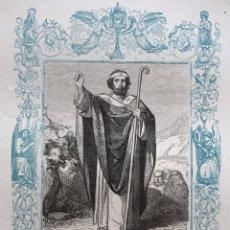 Arte: SAN FERMÍN, OBISPO - GRABADO DÉCADAS 1850-1860 - BUEN ESTADO. Lote 172670345