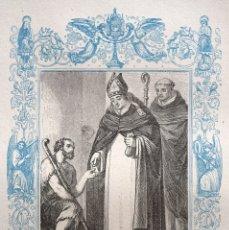 Arte: SAN ANTONIO, ARZOBISPO DE FLORENCIA - GRABADO DÉCADAS 1850-1860 - BUEN ESTADO. Lote 172670795
