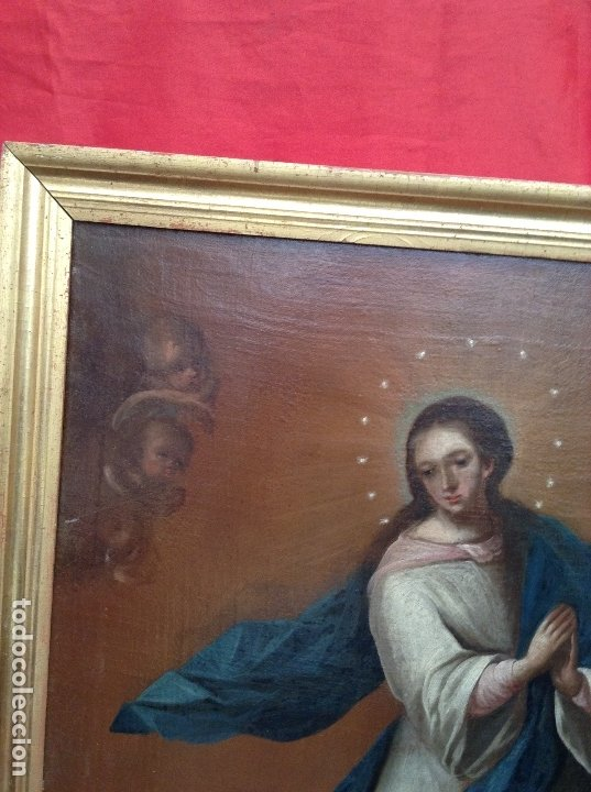 Arte: Inmaculada . Óleo sobre lienzo - Foto 2 - 172693030