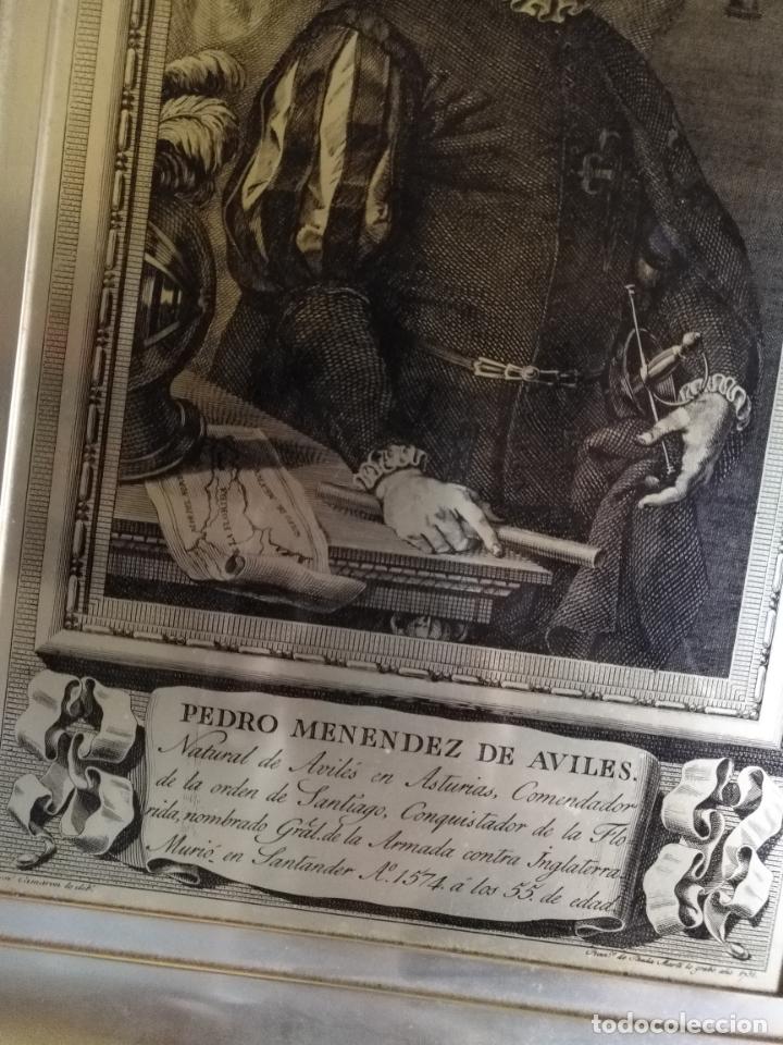 Arte: PEDRO MENENDEZ DE AVILES PLACA DE METAL Y ALUMINIO GRABADO 38,5 X 27 CM - Foto 8 - 172712330