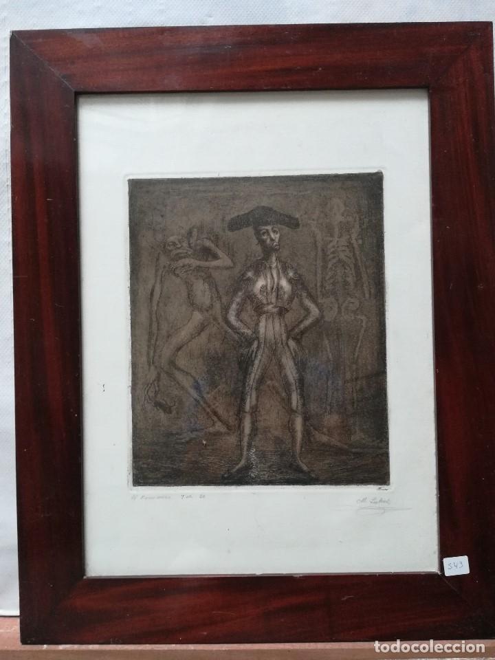 EL FENOMENO, FIRMADO POR MANUEL LAHOZ VALLE GRABADO 7 DE 20 (Arte - Arte Religioso - Grabados)