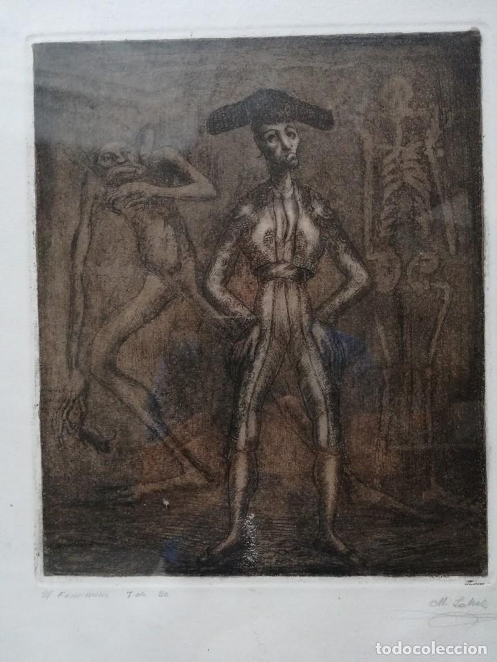 Arte: El fenomeno, firmado por Manuel Lahoz Valle grabado 7 de 20 - Foto 2 - 172757018