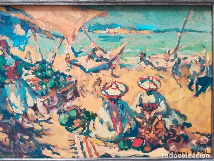 Arte: Playa de Marruecos , PINTADO POR Ramon Puyol - Foto 2 - 172759689