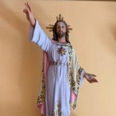 Arte: SAGRADO CORAZÓN DE JESÚS 60 CM TOTAL.. Lote 172762110