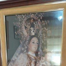 Arte: ANTIGUO CUADRO DE LA VIRGEN CON EL NIÑO. Lote 172844758