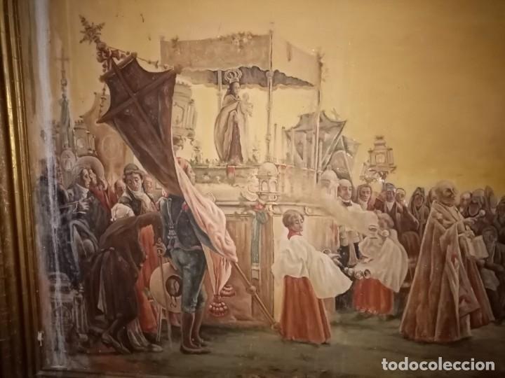 Arte: cuadro antiguo procesion - Foto 4 - 68341573
